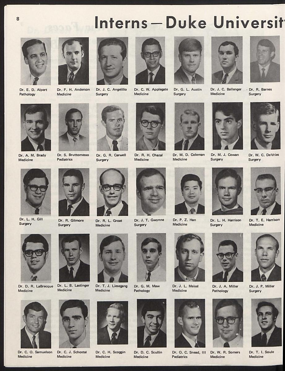 1970 Duke interns, p.1