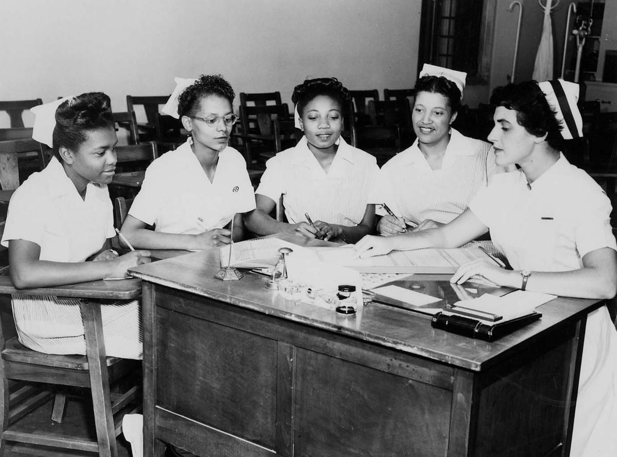 African American licensed practical nursing students
