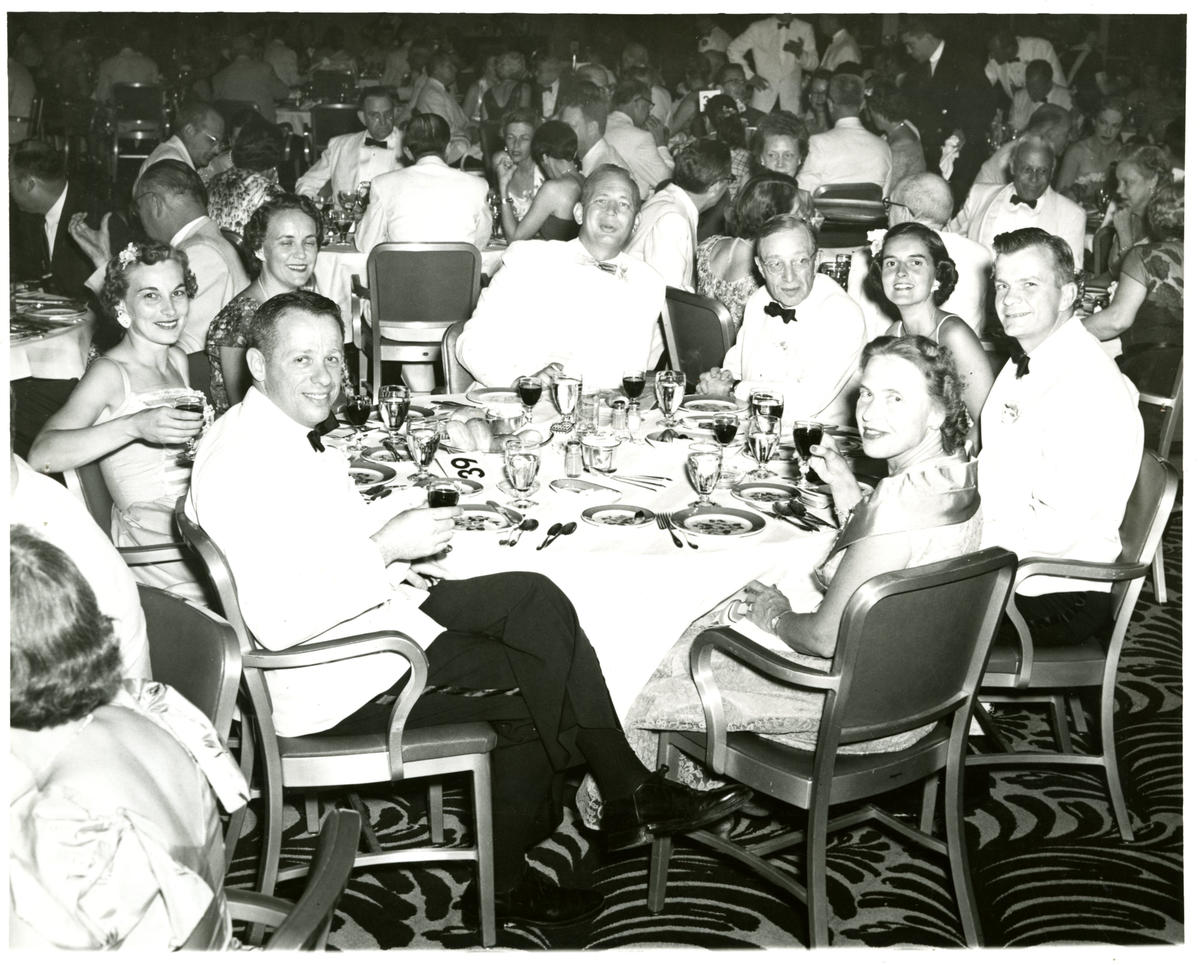 Goldner (left) and wife, Ken, (second from left) at an event at the Greenbrier Hotel