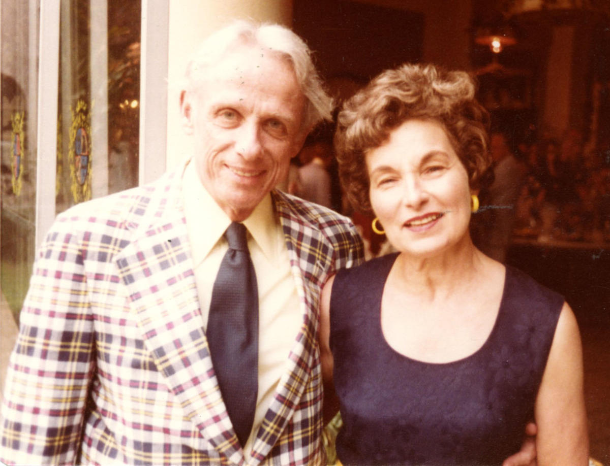 J. Leonard Goldner with his wife, Eunice (Ken) Kensinger Goldner
