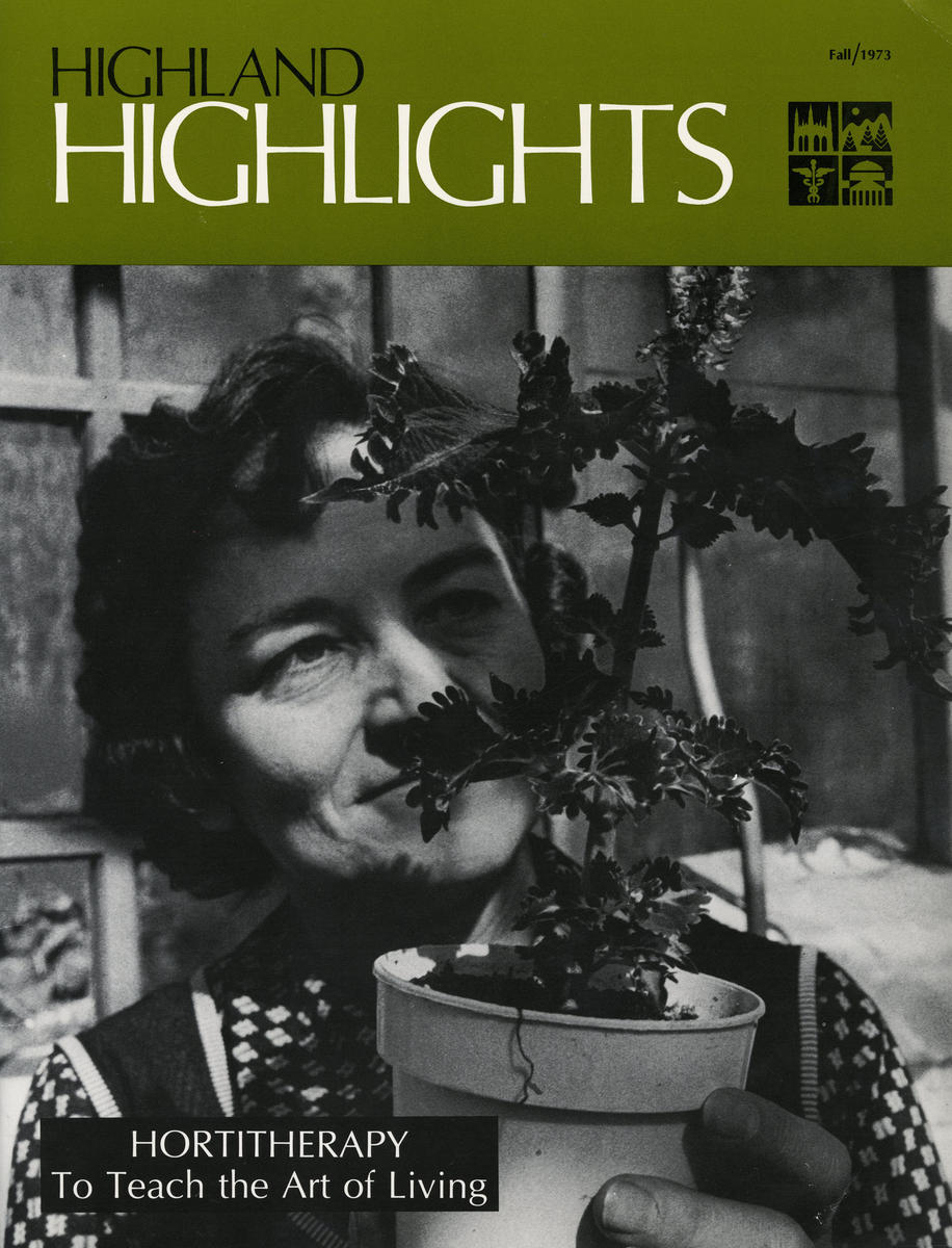 Highland Highlights cover featuring gardening