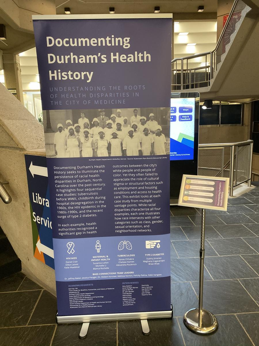 Introduction Panel Documenting Durham's Health History