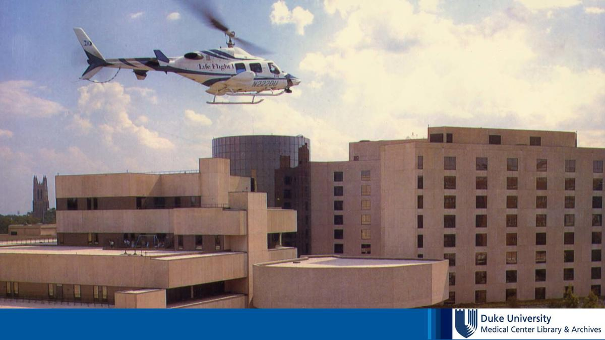 life flight over hospital