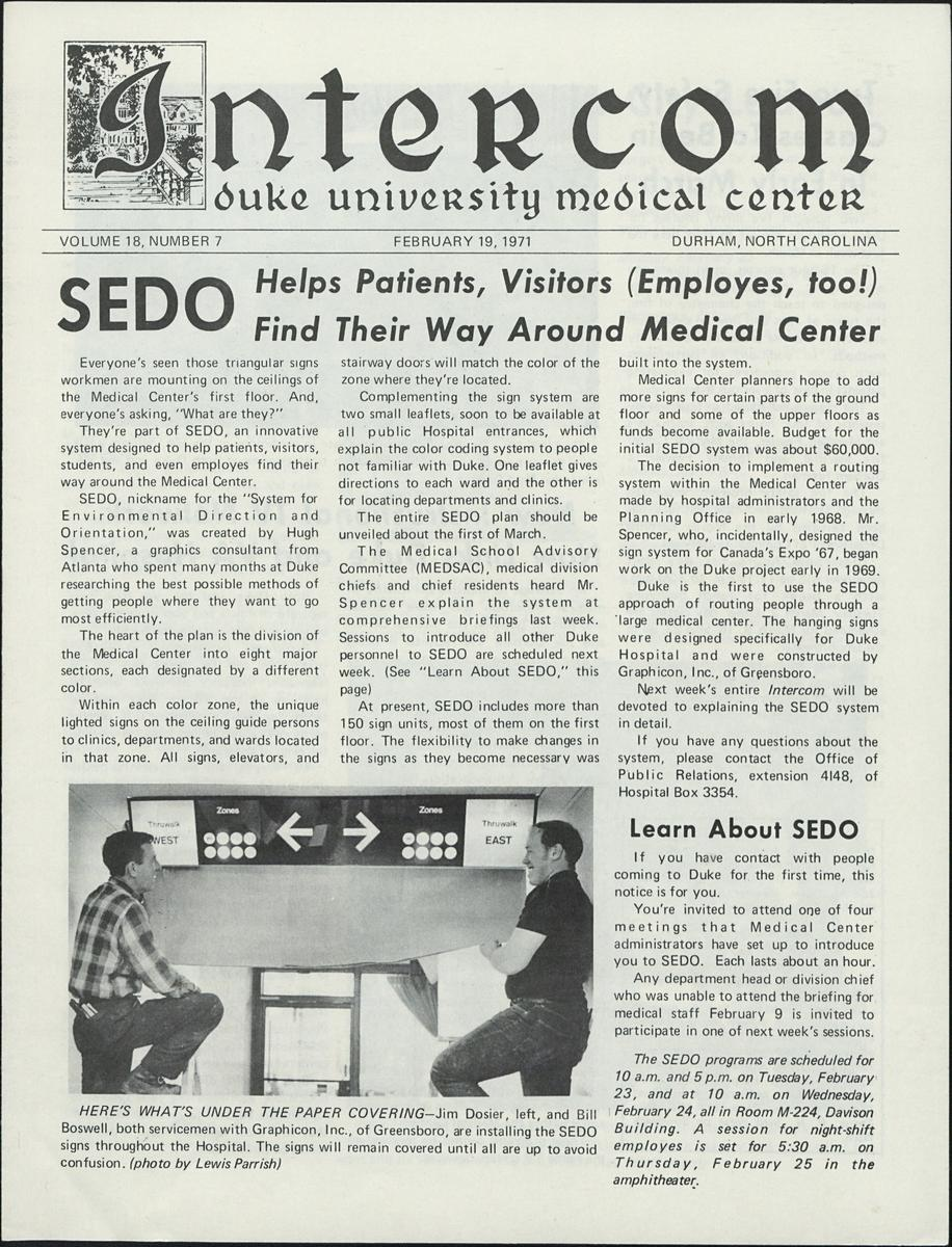 SEDO in Intercom, 1971